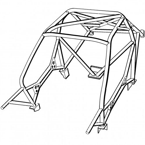 Safety Devices Peugeot 106 Multipoint Weld In Roll Cage